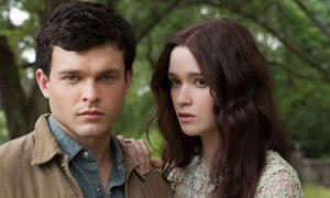"Alden Ehrenreich and Alice Englert have believable, borderline fantastic chemistry, but ""Beautiful Creatures'"" poorly crafted characters leave us wanting more. Much more. Photo from The Guardian."