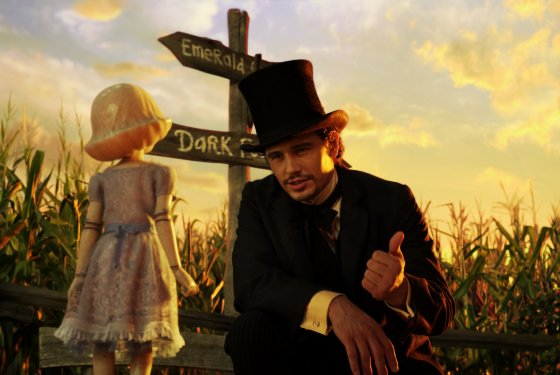 James Franco plays a charming con-man, but he's not quite magical enough for the world of Oz. Photo from Vulture.