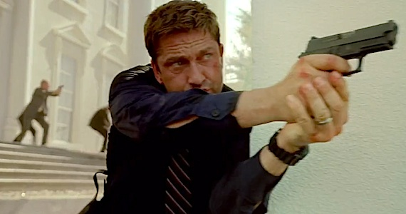 This photo of Gerard Butler playing Gerard Butler is from Screenrant.