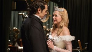 Michelle Williams shines as Glinda, but the film's focus on Oscar's love life is a little off-putting. Photo from The Hollywood Reporter.