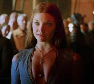 Margaery Tyrell, bringing plunging necklines to Westeros. Photo from Tumblr.