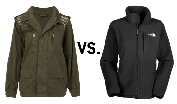 topshop army jacket vs north face