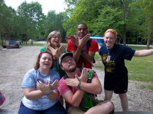 Houck with fellow counselors at Camp Joy. Photo provided.