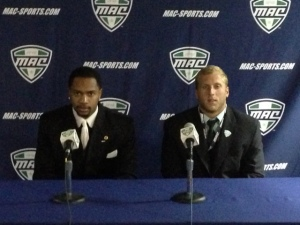 Donte Foster and Beau Blankenship represented Ohio at MAC Media Day in Detroit