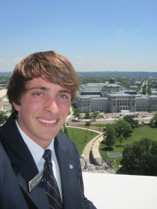 Matt McKnight, the creator of Athens Scanner, while interning at the House of Representatives in 2010. Photo provided.