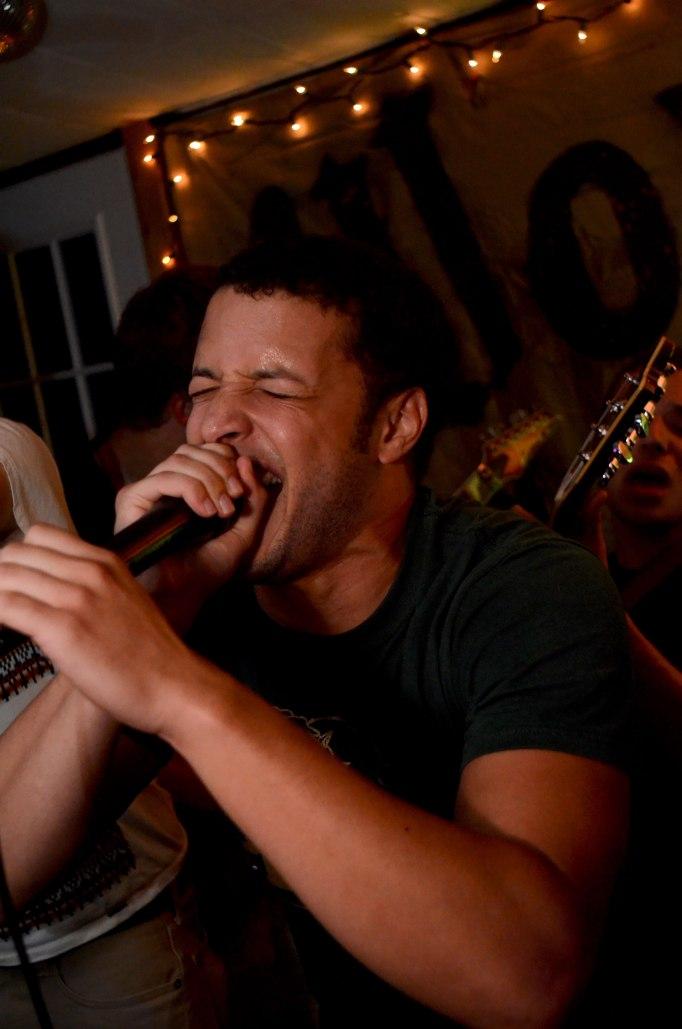 Co-Lead vocalist of The Shafer Street Fugitive David Butler belts out a progressive hardcore song. CREDIT: Evan Chwalek