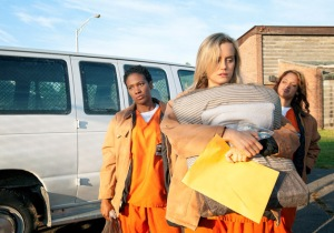 "Yep, you'll get right on that paper. Right after another episode of ""Orange is the New Black."" Photo from Indiewire."