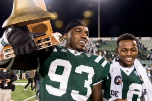 Ohio is on a roll after capturing the Victory Bell from Marshall last week. (Carl Fonticella)