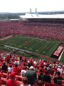 55,332 were in attendance at Papa John's Cardinal Stadium, the second largest crowd in stadium history. (Alex Hider)