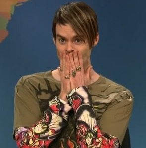 Stefon's reaction to the new member dance... Yikes! Photo curtesy of Collider.com
