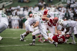 With Beau Blankenship running hard for Ohio, play action could work in their favor. (Carl Fonticella)