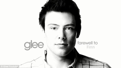 Glee's promotional photo for Cory's/Finn's tribute episode. Photo by Dailymail.