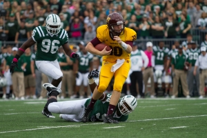 Ohio's defense was not able to stop Central Michigan and Cooper Rush on Homecoming Weekend (Nichola Horsley)