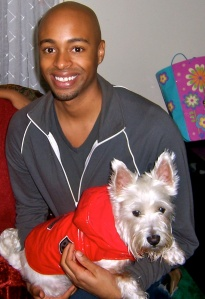 Micah McCarey and his Westie, Myles. Photo via Micah McCarey.