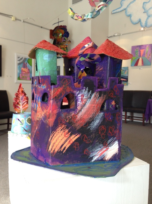 Model castles were a popular commodity during this season for the studio. Several artists collaborated to decorate these gorgeous structures. Photo by Sammi Nelson.
