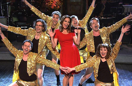 Tina Fey pulls out all the stops to embarrass the new players this season.  Photo from The Silhouette.