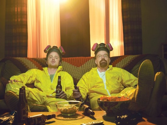 Walt and Jesse taught us so much over the years. Like, never try to dissolve a body in a bathtub. Photo from Standard.