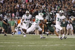 Matt Waters' big play ability is one reason why Ohio holds an edge over Akron (Lauren Prescott)