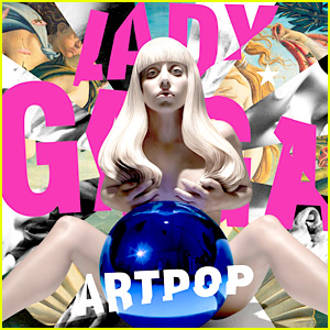 Strategically placed blue balls are Gaga's specialty, apparently. Photo from Just Jared.