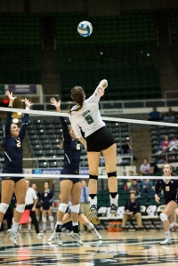 Katie Horton and the rest of the volleyball team will try to bring home the MAC Tournament Championship this weekend in Geneva, Ohio. (Carl Fonticella)