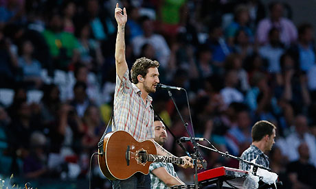 Frank Turner opening for the 2012 London Olympics . Photo by Ian Langsdon.