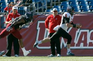 No one can seem to slow down Jordan Lynch, especially UMass. (AP Photo/Stew Milne)