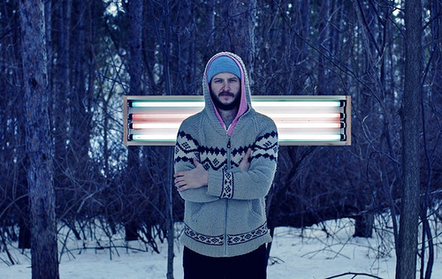 Justin Vernon of Bon Iver posing in a winter wonderland... I think. Photo from D.L. Anderson of Last.fm.