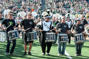 The Ohio University Alumni Band performs on Homecoming earlier this season. (Carl Fonticella)