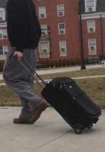 A student returns to Ohio University