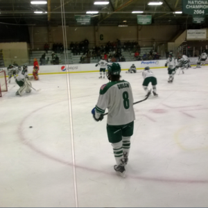 J.C. Gulch prepares for his return game at Bird Arena.