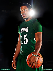 Nick Kellogg scored 20 points and played with the heart of a lion tonight.  (Photo from OhioBobcats.com)
