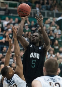 Maurice N'dour led Ohio to victory with his fifth double-double of the season. (Carl Fonticella)