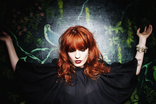 Florence Welch posing in all of her mystical glory. Photo from Hypetrak.