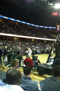 View from my third row seats in Quicken Loans Arena. (Corbin Bagford)