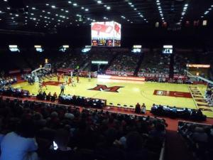Miami's Millet Hall uses curtains and tarps to make their arena smaller. (photo: stadiumjourney.com)