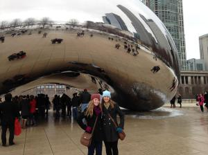 "Did we see The Bean, you ask? Well if by ""The Bean"" you mean Cloud Gate…then yes! Photo from David Mierke."