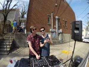 Entel with another local DJ Chris Henke. Photo courtesy of Justin Nedell