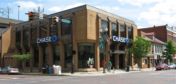 The Chase Bank location on Court St. is where the incident took place. Photo courtesy of The New Political.