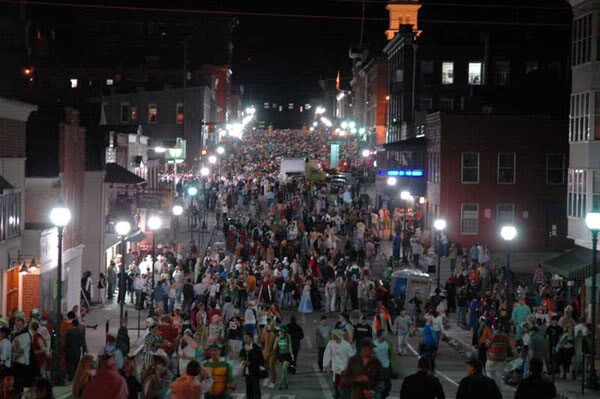 The Halloween Block Party is one of the biggest parties in the country every year. Photo from the Cincinnati Monocle.