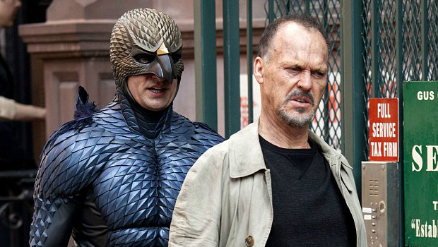 Riggan Thompson (portrayed by Michael Keaton) and his Birdman alter ego. Courtesy of film.com