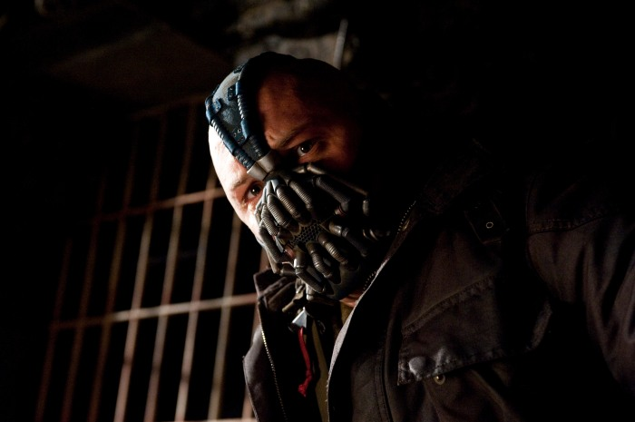 """wah wahhh wahh wuhh woo wahh"" - Bane. Photo from batman.wikia."