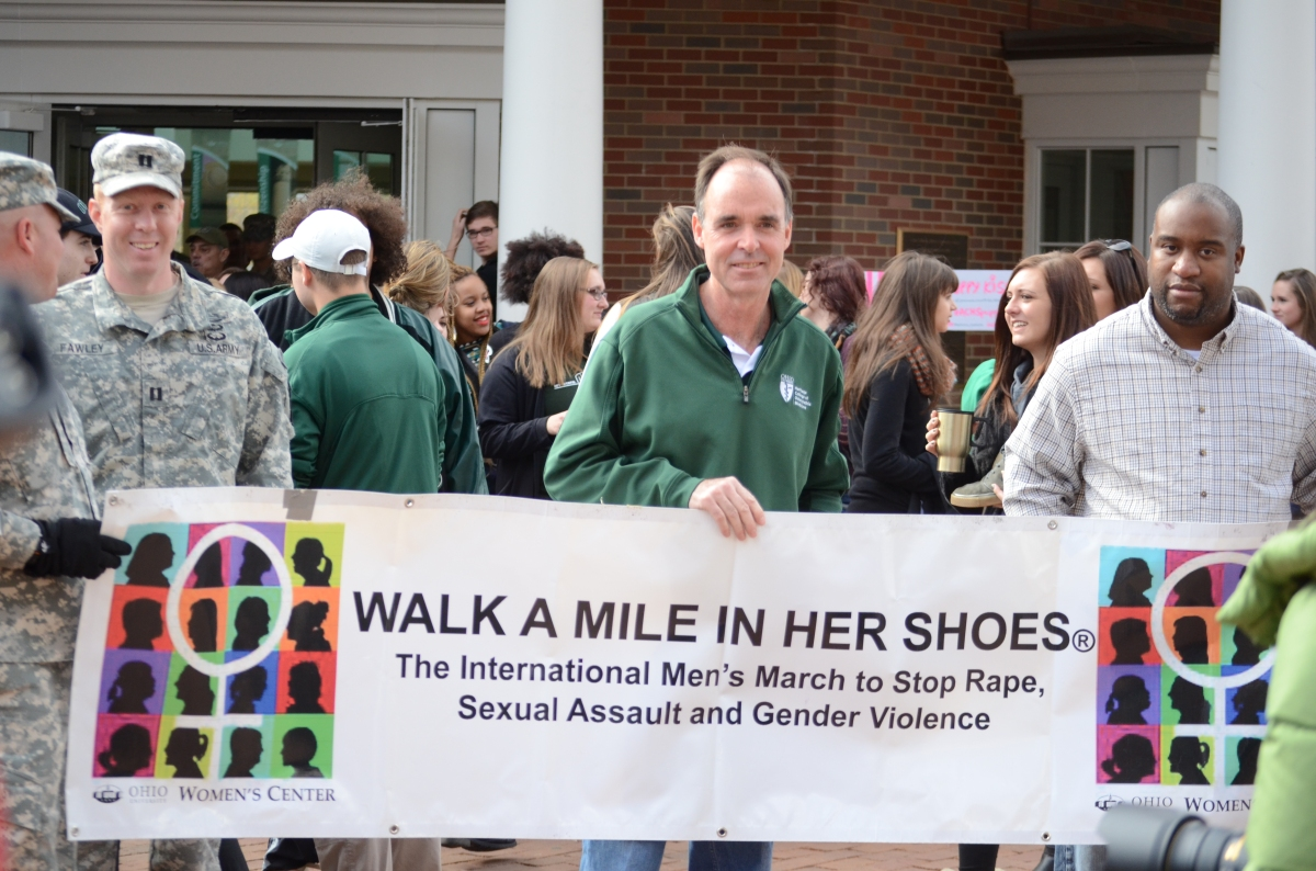 Ohio University holds 7th annual Walk a Mile in Her Shoes