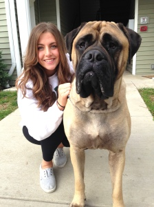 Junior Andrea Rykalla poses for a picture with her best friend, Bruce. Bruce is great company for Rykalla while here at college. Photo courtesy of Andrea Rykalla.