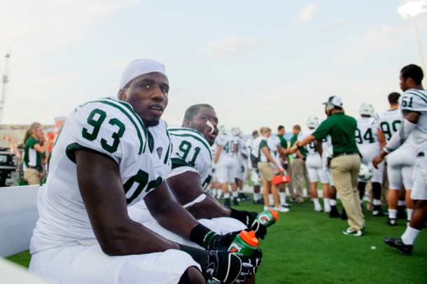 Tarell Basham (left) and Antwan Crutcher (middle) will look to have a big day against the feeble Miami offensive line. (photo: danielkubus.com