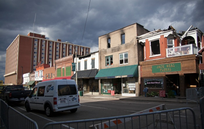 The remnants of the fire that ravaged Union Street. Photo by Lauren Prescott.