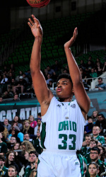 Tony Campbell tallied his fourth consecutive double-double in Ohio's win over UAPB. (Photo by ohiobobcats.com)