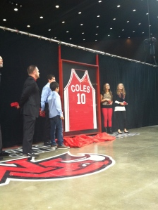 Miami retired Charlie Coles #10 on Saturday. (Corbin Bagford)