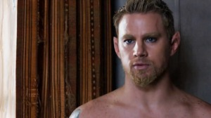 "Channing Tatum's Caine sets a world record for ""longest shirtless scene"" in ""Jupiter Ascending."" Woof. Photo from Variety."