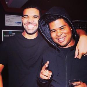 Drake and iLoveMakonnen in the studio. Photo courtesy of thisis50.com