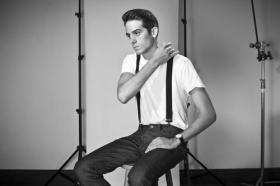 G-Eazy chillin' in suspenders. Photo courtesy of tumblr.com